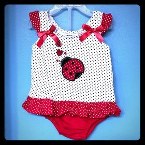 Lady Bug Top and Bloomers Set